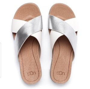 New KARI leather UGG sandals